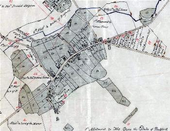 Turnpike Road on the inclosure map of about 1799 [MA75]